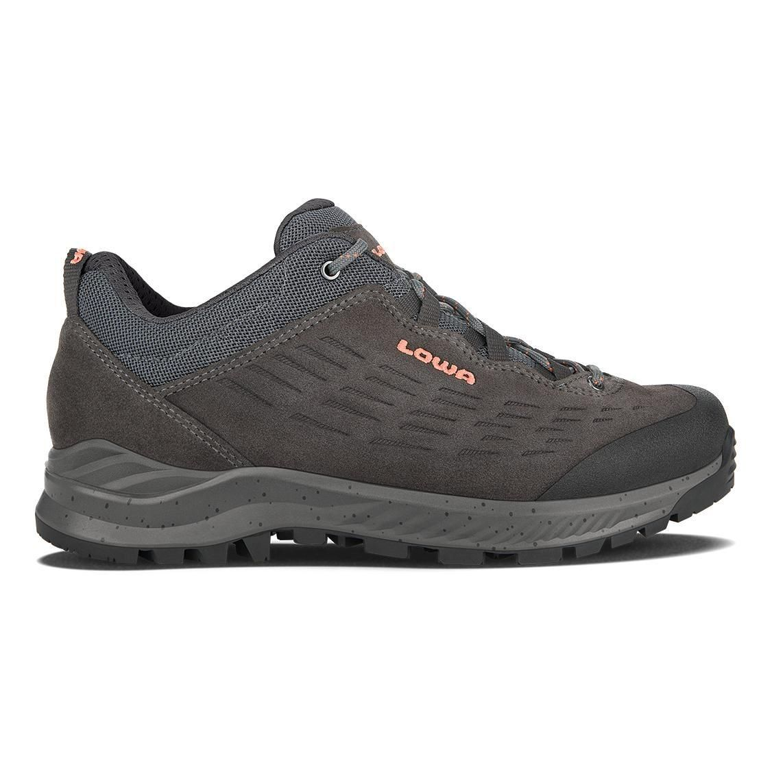 LOWA EXPLORER LOW W ANTHRACITE CORAL